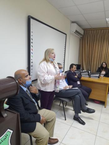 البطيخي تلتقي طلبة العمل الاجتماعي في الأردنية