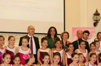 الأميرة رحمة تفتتح مركز عودة لتعليم الجمباز