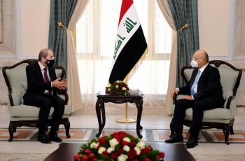 الصفدي ينقل رسالة من الملك الى الرئيس العراقي