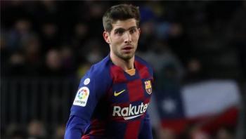 إصابة روبرتو لاعب برشلونة بكورونا