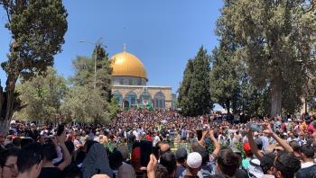 مسيرة في الأقصى نصرة للشيخ جراح ورداً على المستوطنين