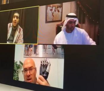 الإماراتي أحمد الفلاسي يعلن عن بدء رحلة علاج فتى الزرقاء صالح
