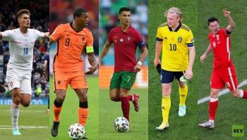 ترتيب أفضل هدافي يورو 2020 بعد دور المجموعات