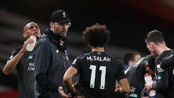 مدرب ليفربول يعلق على هدف صلاح الملغى