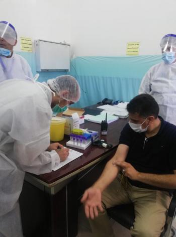المستشفى الميداني الأردني يبدأ بحملة تبرع بالدم لمستشفى الشفاء في غزة