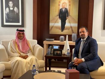 السفير القطري يلتقي أبو تايه وقطامش