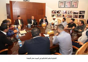 الشواربة يكرم المشاركين في أوبريت عمان تجمعنا