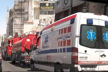 حريق بمدخنة مطعم في جبل عمان