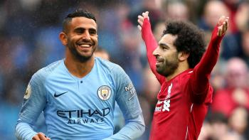 صلاح ومحرز يتنافسان على جائزة أفضل هدف في الدوري الإنجليزي