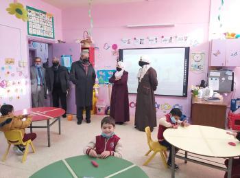الدهيسات يتفقد مدارس ورياض المركز الاسلامي