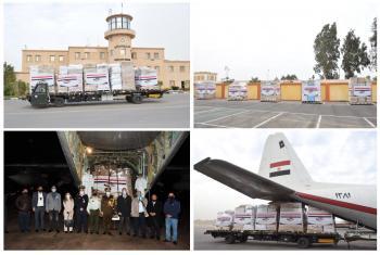 مصر تقدم للأردن مستلزمات طبية وأدوية