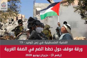 أرض تطالب المجتمع الدولي بإجراءات رادعة لمنع مخطط الضم
