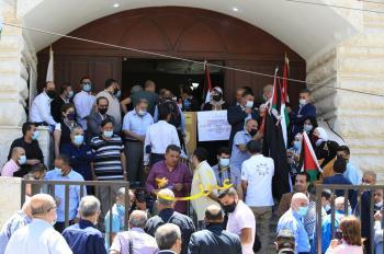صحفيو الأردن يحتجون رفضا للعدوان على فلسطين (فيديو، صور)