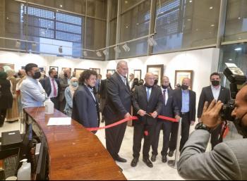 الملتقى الأردني للخط العربي والزخرفة الإسلامية يفتتح معرض الخط العربي