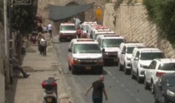 منع طواقم الاسعاف من الدخول للاقصى ومحاصرة المصابين