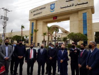 عمان الأهلية تشارك محافظة البلقاء في الاحتفال الرئيسي بمئوية الدولة