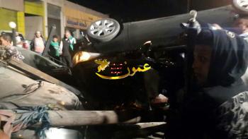 3 إصابات بتدهور مركبة بالوحدات (صور)