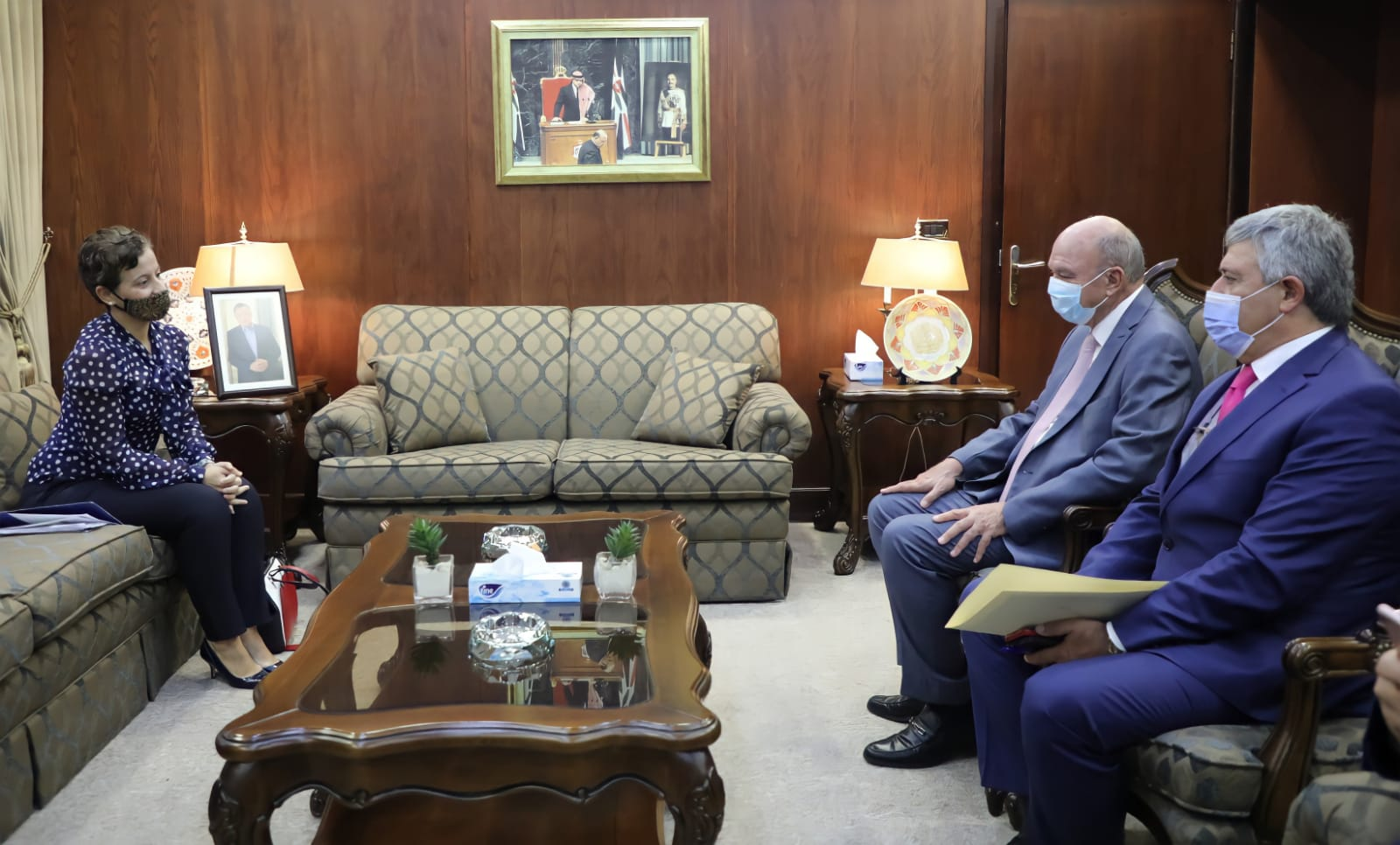 رئيس مجلس الاعيان يلتقي سفيرة الاتحاد الاوروبي لدى المملكة
