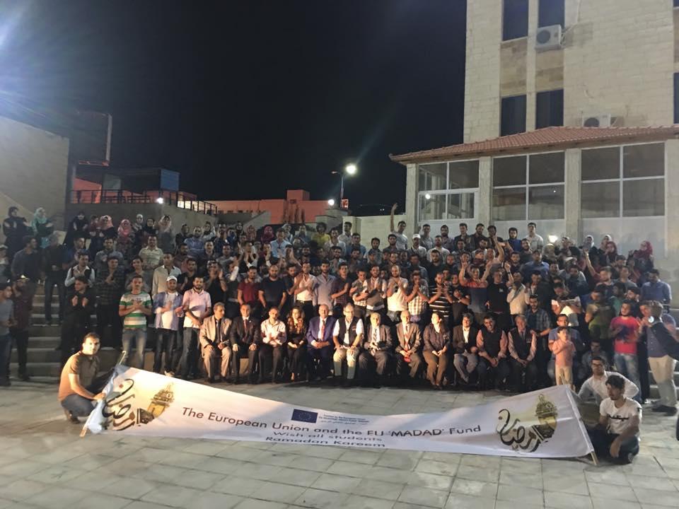 جامعة الزرقاء تقيم افطارا رمضانيا لطلبة Edu-Syria