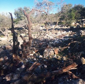 سقوط شظايا صاروخية على منطقة الكسارات في عجلون