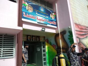 اخلاء مدرسة في اربد بعد حريق محول كهرباء