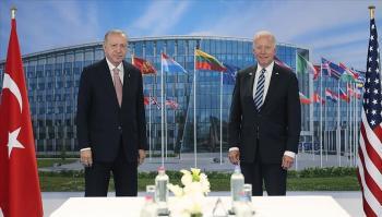 أردوغان: محادثات صريحة ومثمرة مع بايدن في بروكسل