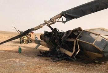 تحطم طائرة عمودية في الغباوي ونجاة طاقمها
