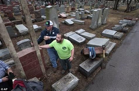 تخريب مقبرة يهودية في فيلادلفيا