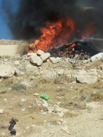 اندلاع حريق في مستودع في الكرك