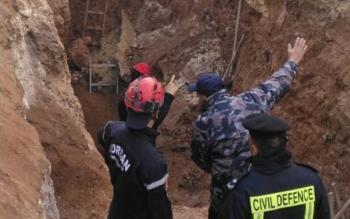 وفاة بانهيار اتربة على عامل في جرش