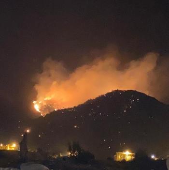 حريق ضخم في أحراش بمنطقة مكة المكرمة (صور، فيديو)