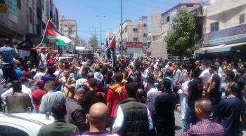 مظاهرات تعم محافظات المملكة نصرة لفلسطين