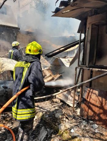 اخماد حريق منزل في عجلون