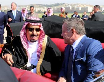 صور من استقبال الملك لخادم الحرمين