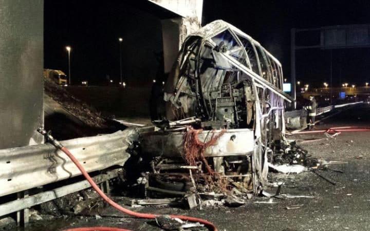شرطة المجر قد توجه اتهامات لشركة الحافلة التي احترقت في إيطاليا