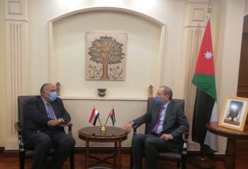 الصفدي وشكري يؤكدان مركزية القضية الفلسطينية