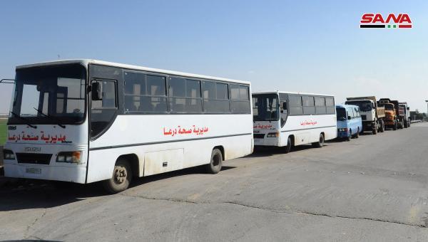 عودة المهجرين السوريين- الصورة لوكالة الانباء السورية