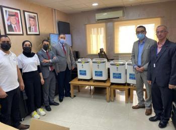 الأردني الكويتي يسلم مولدات أكسجين لمستشفى جرش الحكومي