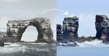 انهيار قوس داروين الشهير في جزر غالاباغوس